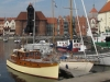Ruda moored in front of the famous C15th Gdansk crane