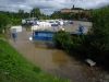 Flooded boatyard