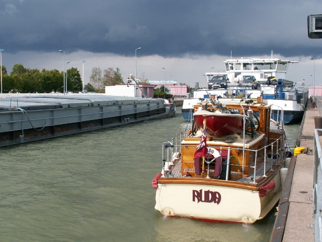 Rhine lock just outside Strasbourg