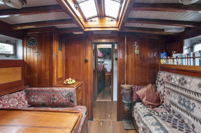 Saloon looking towards the galley (copyright Petra Hajska)